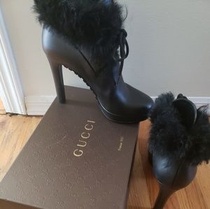 GUCCI lace up boots